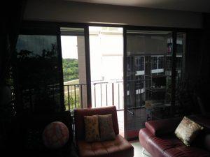 Balcony sliding door after installation